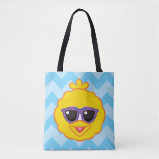 Big Bird Smiling Face with Sunglasses Tote Bag