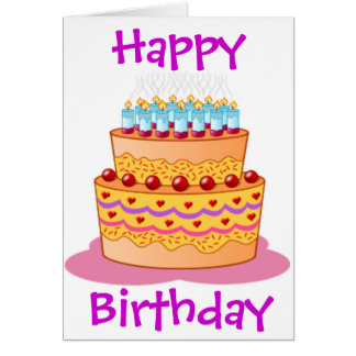 Big Birthday Cake Card