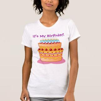 Big Birthday Cake Tee Shirt