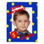 Big Birthday Card with Large Photo Custom Any Age