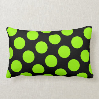 Big Black and Green Polka Dot American MoJo Pillow