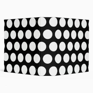 Big Black and White Polka Dots 3 Ring Binder