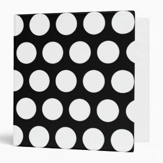 Big Black and White Polka Dots Binder