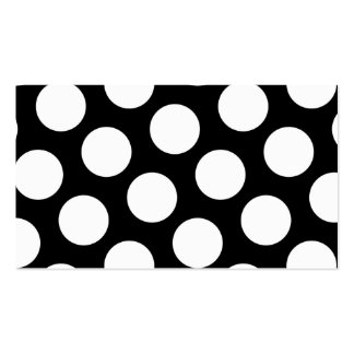 Big Black and White Polka Dots Double-Sided Standard Business Cards (Pack Of 100)