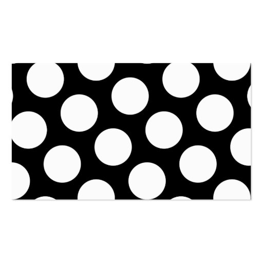 Big Black and White Polka Dots Business Card Template