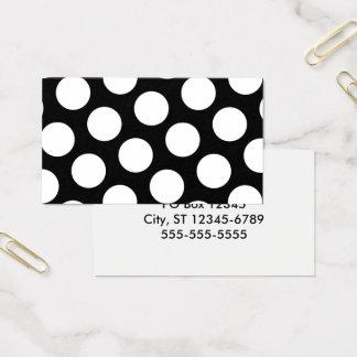 Big Black and White Polka Dots Business Card