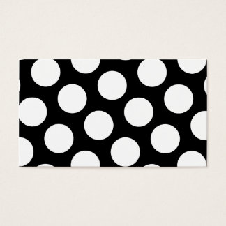 Big Black and White Polka Dots Business Card