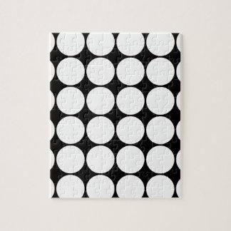 Big Black and White Polka Dots Circles Pattern Puzzles
