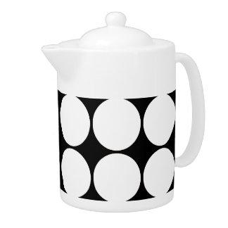 Big Black and White Polka Dots Circles Pattern