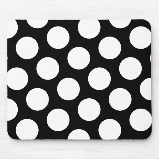Big Black and White Polka Dots Mouse Pad