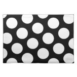 Big Black and White Polka Dots Place Mat