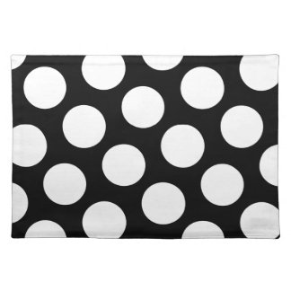 Big Black and White Polka Dots Placemat