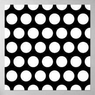 Big Black and White Polka Dots Poster