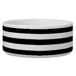 Big Black and White Stripes Bowl