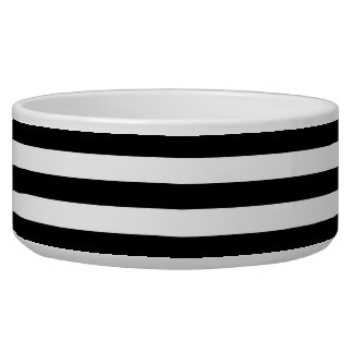 Big Black and White Stripes Bowl