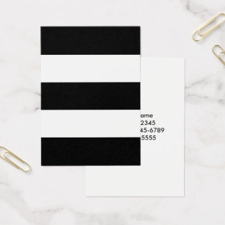 Big Black and White Stripes Business Card