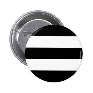 Big Black and White Stripes Button