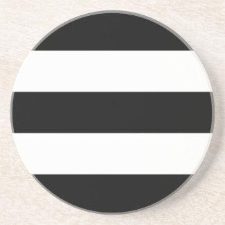 Big Black and White Stripes Coaster