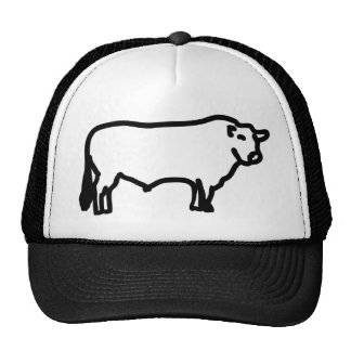 big black angus trucker hat
