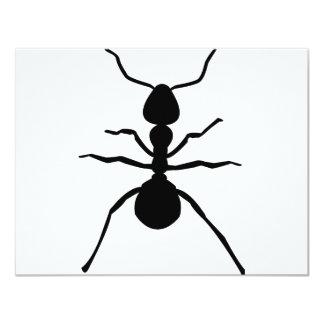 big black ant icon 4.25x5.5 paper invitation card