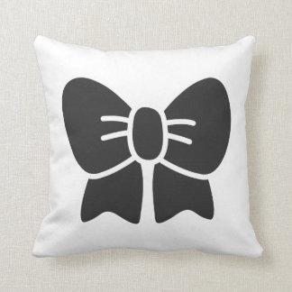 Big Black Bow Pillow