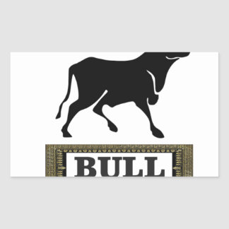 big black bull rectangular sticker
