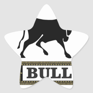 big black bull star sticker