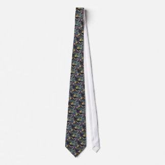 big black butterfly neck tie