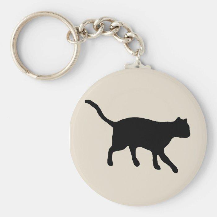 big black cat keychain