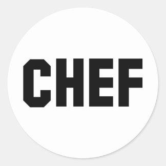 big black chef icon round sticker