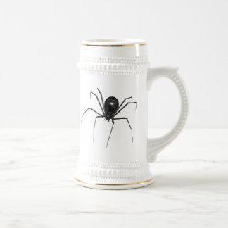 Big Black Creepy 3D Spider Beer Stein