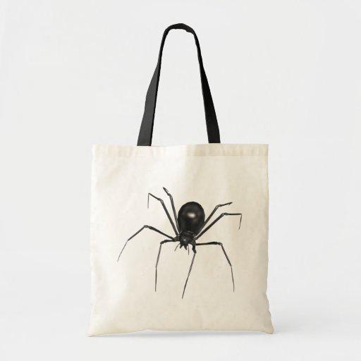 Big Black Creepy 3D Spider Canvas Bags