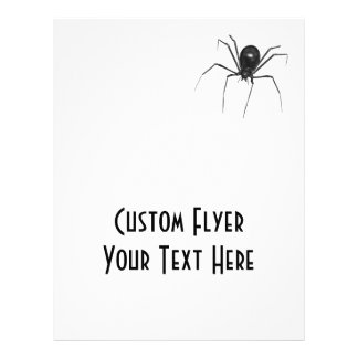 Big Black Creepy 3D Spider Personalized Flyer