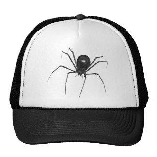 Big Black Creepy 3D Spider Mesh Hats