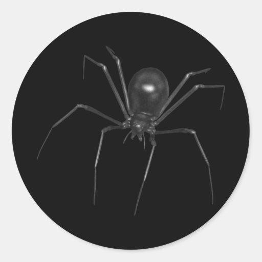 Big Black Creepy 3D Spider Sticker