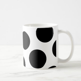 Big Black Diagonal Dots Coffee Mug