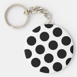 Big Black Diagonal Dots Keychain