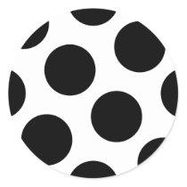 Big Black Dots Classic Round Sticker