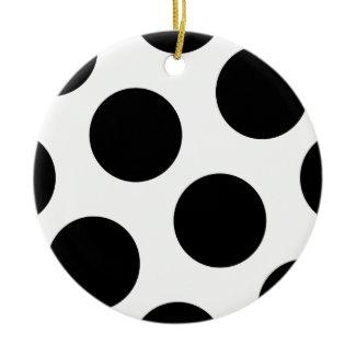 Big Black Dots ornament
