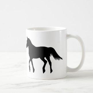 Big Black Horse Coffee Mug