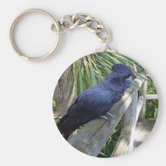 Big_Black_Parrot. Basic Round Button Keychain