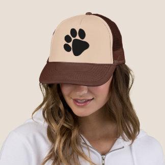 Big Black Pawprint Dog Trainer Veterinarian Hat