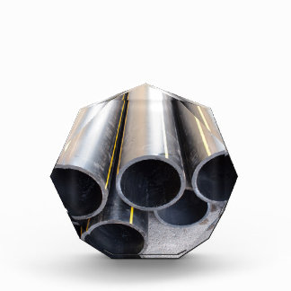 Big black pipe closeup plastic large diameter for acrylic award