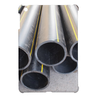 Big black pipe closeup plastic large diameter for iPad mini cover