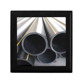 Big black pipe closeup plastic large diameter for keepsake box