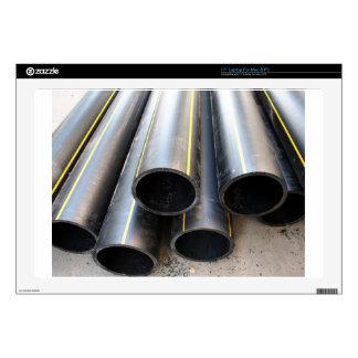 Big black pipe closeup plastic large diameter for laptop skin