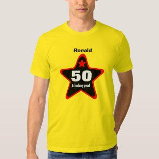 Big BLACK RED STAR Birthday VG GOLD Shirt