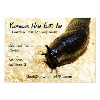 Big Black Slug Garden Pest  Business Cards