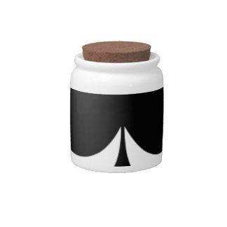 big black spades candy jar