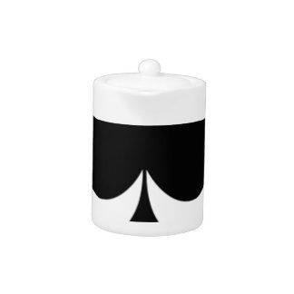 big black spades teapot